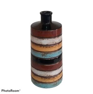 Elegant Expressions Vase - Rustic Colorful Striped